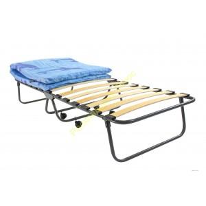 Кровать раскладная на ламелях, на колёсах с матрасом
