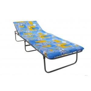 Кровать раскладная с подголовником, усиленная, с матрасом ЭК-03М